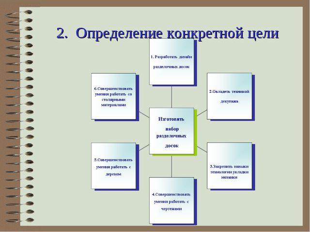 2. Определение конкретной цели