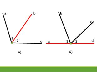 a b c 1 2 a d b c 1 2 а) б)