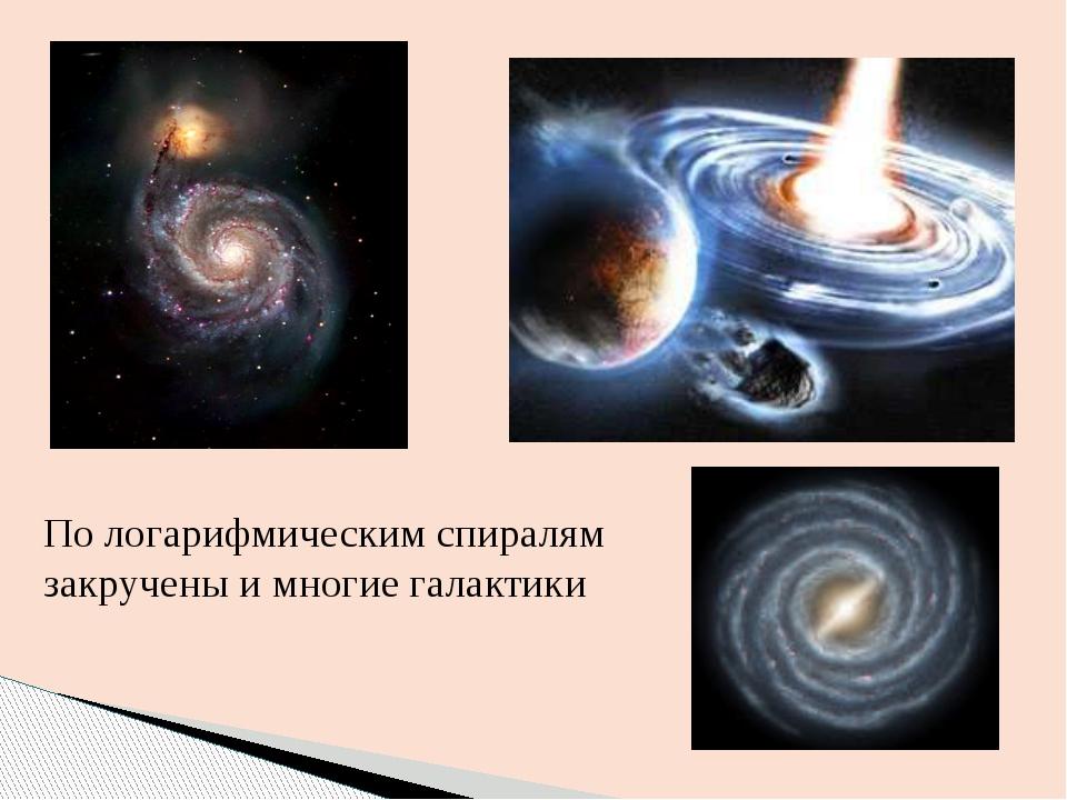 По логарифмическим спиралям закручены и многие галактики