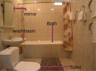 Toilet Bath washbasin mirror