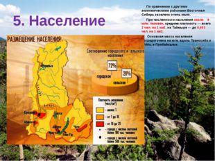 По сравнению с другими экономическими районами Восточная Сибирь заселена оче