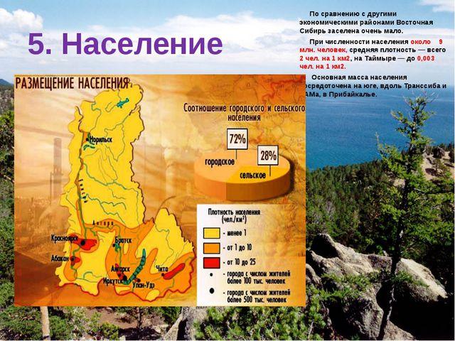 По сравнению с другими экономическими районами Восточная Сибирь заселена оче...