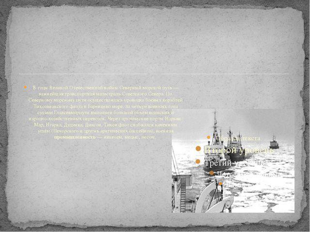 В годы Великой Отечественной войны Северный морской путь — важнейшая транспо...