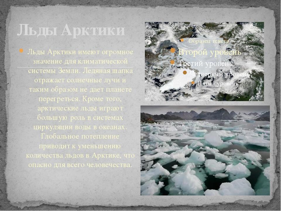 Льды Арктики имеют огромное значение для климатической системы Земли. Ледяна...