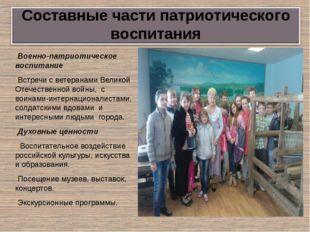 Военно-патриотическое воспитание Встречи с ветеранами Великой Отечественной в