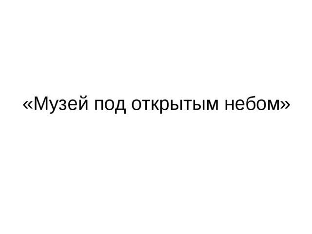 «Музей под открытым небом»