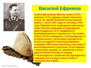 Василий Ефремов Советский лыжник, Мастер спорта СССР, чемпион СССР, дважды Г