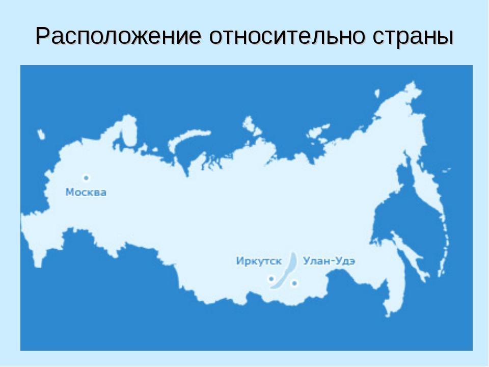 Расположение относительно страны