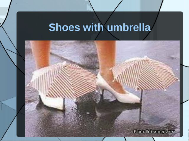 Shoes with umbrella