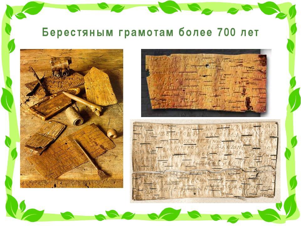 Берестяным грамотам более 700 лет