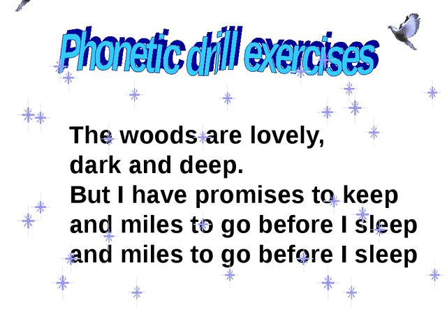 The woods are lovely, dark and deep. But I have promises to keep and miles t...