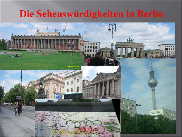 Die Sehenswürdigkeiten in Berlin