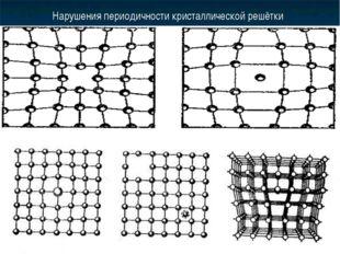 Нарушения периодичности кристаллической решётки