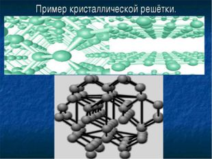 Пример кристаллической решётки.