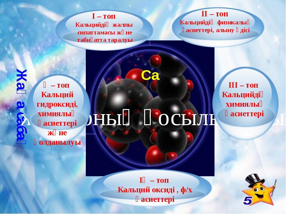 Жаңа сабақ Са және оның қосылыстары ІІ – топ Кальцийдің физикалық қасиеттері...