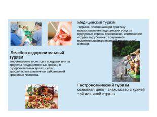 Медицинский туризм термин, обозначающий практику предоставления медицинских