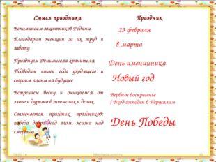 * http://aida.ucoz.ru * 23 февраля 8 марта День именинника Новый год Вербное
