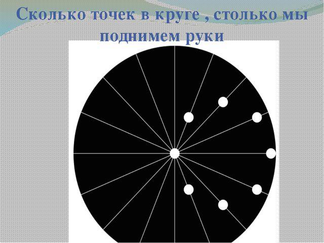Сколько точек в круге , столько мы поднимем руки