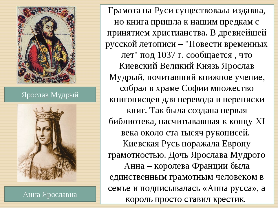 Грамота на Руси существовала издавна, но книга пришла к нашим предкам с приня...
