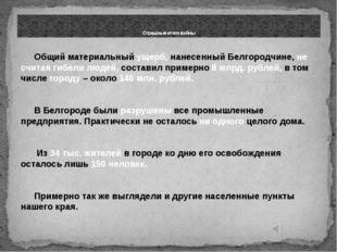 Общий материальный ущерб, нанесенный Белгородчине, не считая гибели людей, с