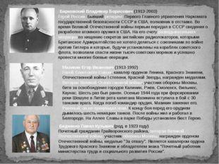 Барковский Владимир Борисович (1913-2003) Герой России. Бывший резидент Перв