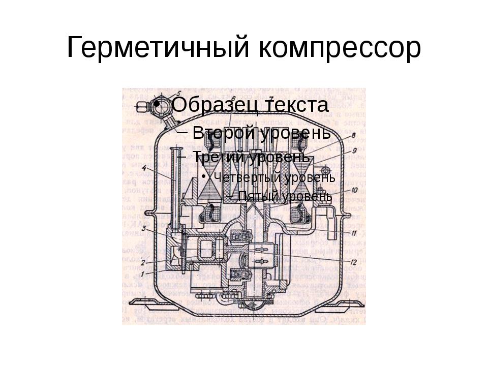 Герметичный компрессор