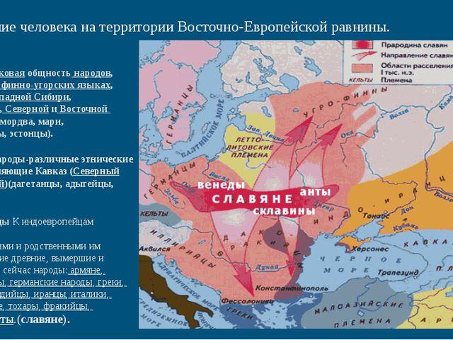 Появление человека на территории Восточно-Европейской равнины. Фи́нно-уго́рск...