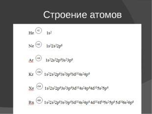 Строение атомов
