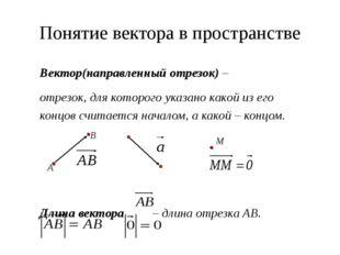 Противоположные векторы Противоположные векторы – противоположно направленные