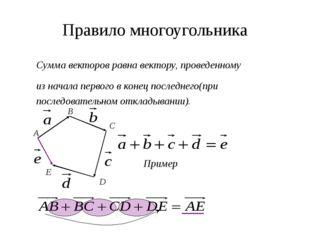 Правило параллелепипеда B А C D A1 B1 C1 D1 Вектор, лежащий на диагонали пар