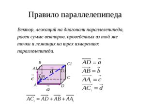 Сложение с противоположным Разность векторов и можно представить как сумму ве