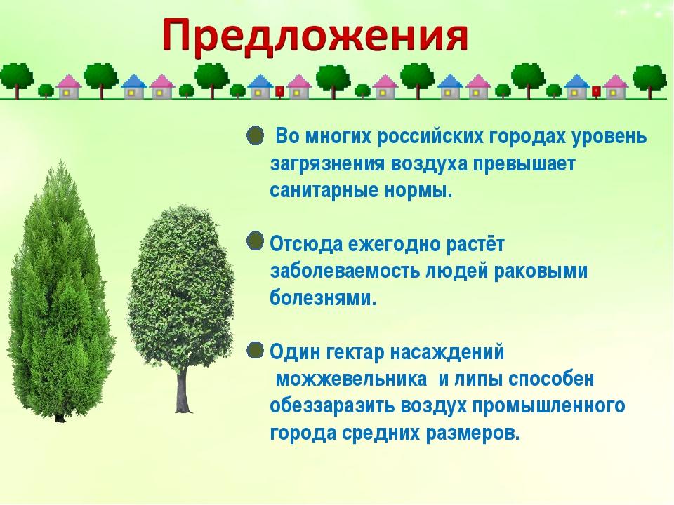 Во многих российских городах уровень загрязнения воздуха превышает санитарны...
