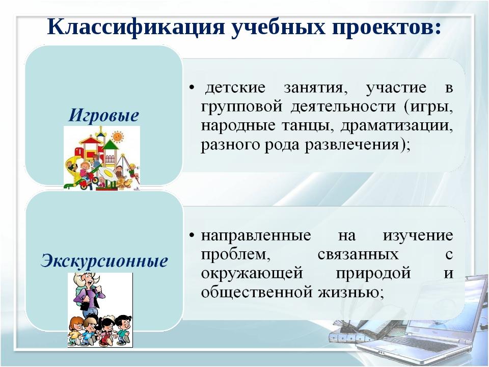 Классификация учебных проектов: