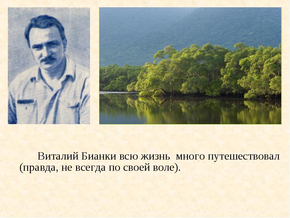 Виталий Бианки всю жизнь много путешествовал (правда, не всегда по своей во...