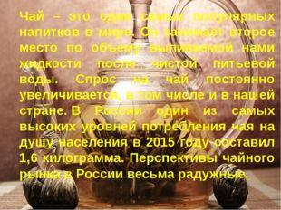 Чай – это один самых популярных напитков в мире. Он занимает второе место по
