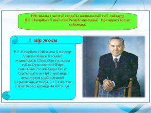 1991 жылы 1-желтоқсандағы жалпыхалықтық сайлауда Н.Ә.Назарбаев Қазақстан Респ
