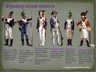 Фузелер – основа французской пехоты. Сражались плотным линейным строем. Воору