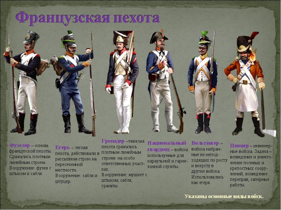 Фузелер – основа французской пехоты. Сражались плотным линейным строем. Воору...