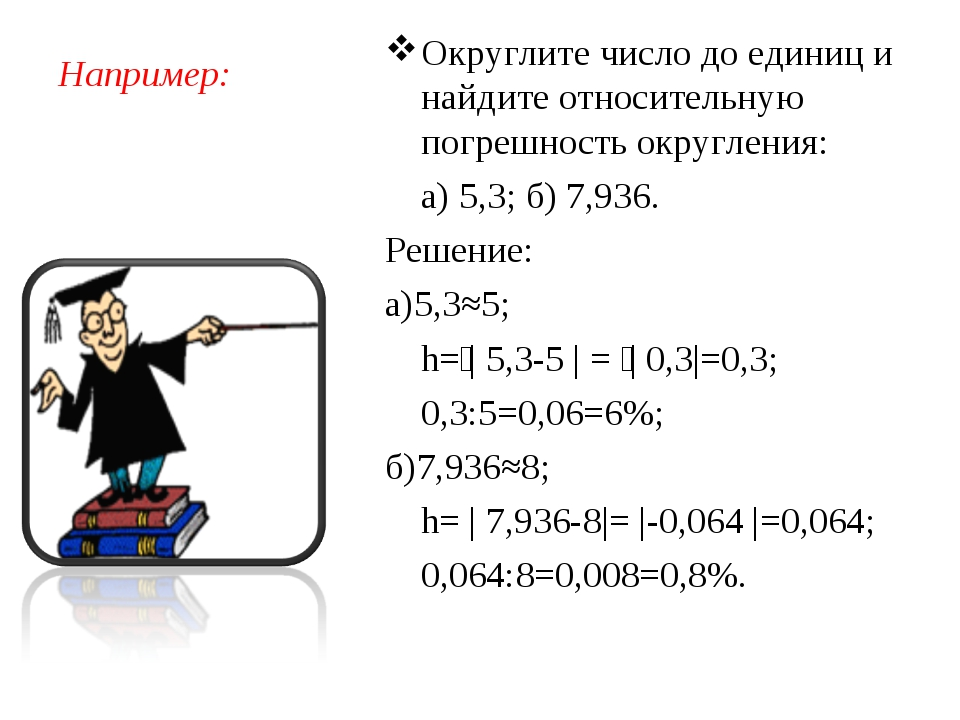 Например: Округлите число до единиц и найдите относительную погрешность округ...