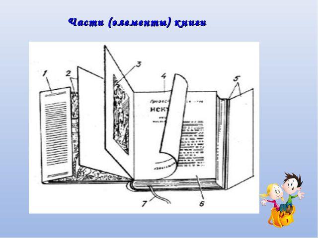 Части (элементы) книги