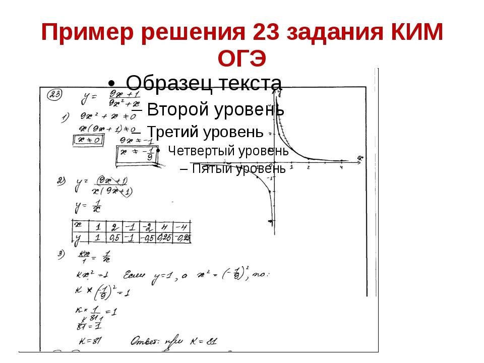 Пример решения 23 задания КИМ ОГЭ