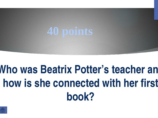 200 points Why name of Beatrix Potter is so important for the nature of the L...