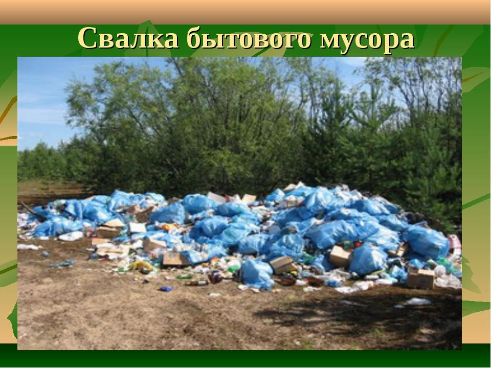 Свалка бытового мусора