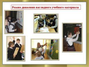 Режим движения наглядного учебного материала