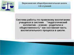 Вересаевская общеобразовательная школа I-III ступеней
