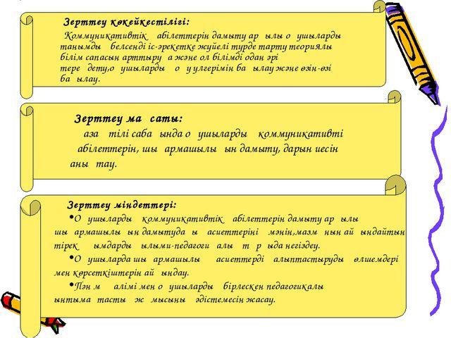 Зерттеу көкейкестілігі: Коммуникативтік қабілеттерін дамыту арқылы оқушыларды...