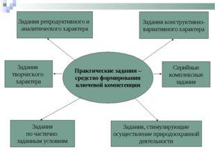 Практические задания – средство формирования ключевой компетенции Задания реп