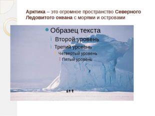 Арктика– это огромное пространствоСеверного Ледовитого океанас морями и ос