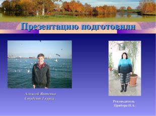 Презентацию подготовили Алексей Витенко Студент 1 курса Руководитель Прибора