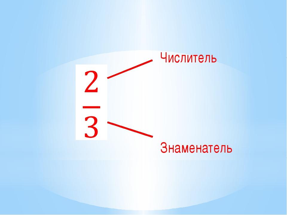 Числитель Знаменатель